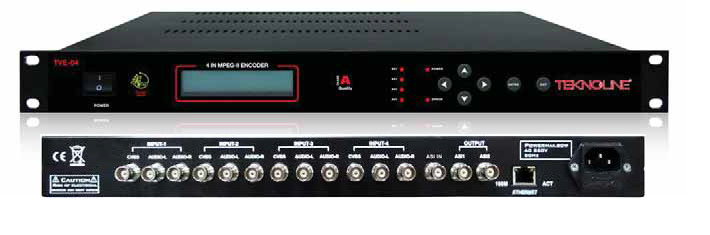 TVE-04 MPEG -ENCODER-4 IN MPEG>ASI
